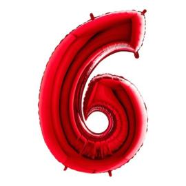 Cijfer 6 rood