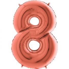 cijfer 8 rosegold