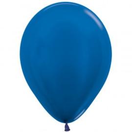 metallic blauw
