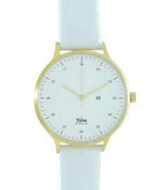 Tyno horloge Goud wit 201-007 wit