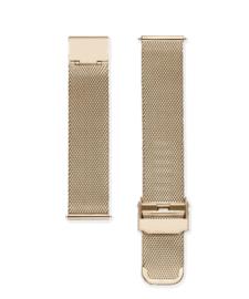 Edelstalen mesh horlogeband goud 18mm