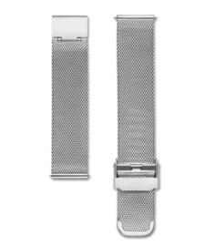 Edelstalen mesh horlogeband zilver 18mm