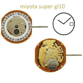 Uurwerk GL10 Super Miyota - Datum op 3