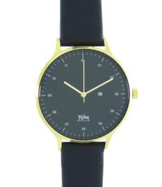 Tyno horloge Goud zwart 201-008 zwart
