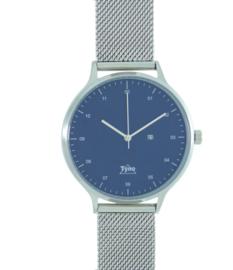 Tyno classic zilver blauw 201-003 mesh