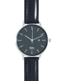 Tyno horloge zilver zwart 101-002 zwart
