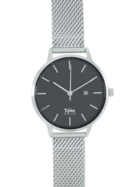 Tyno classic zilver zwart 101-002 mesh