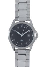 Tyno Werkhorloge zilver zwart 201-011 staal