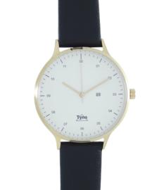 Tyno horloge Rosé goud wit 201-004 zwart