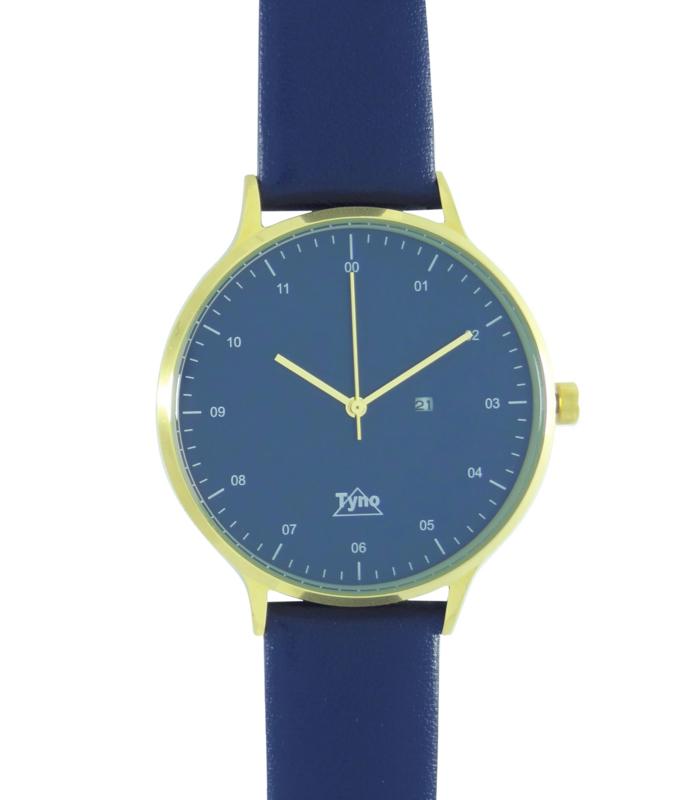 Tyno horloge Goud blauw 201-009 blauw