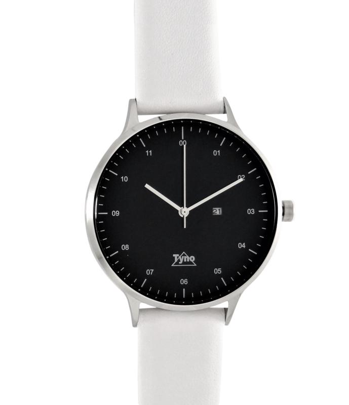 Tyno classic zilver zwart 201-002 wit