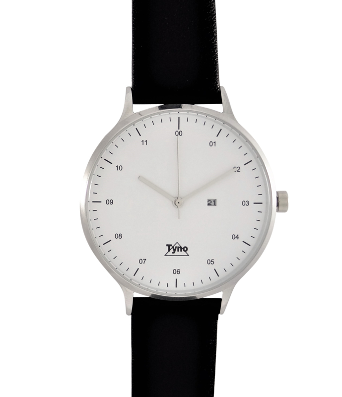 Tyno horloge zilver wit 201-001 zwart