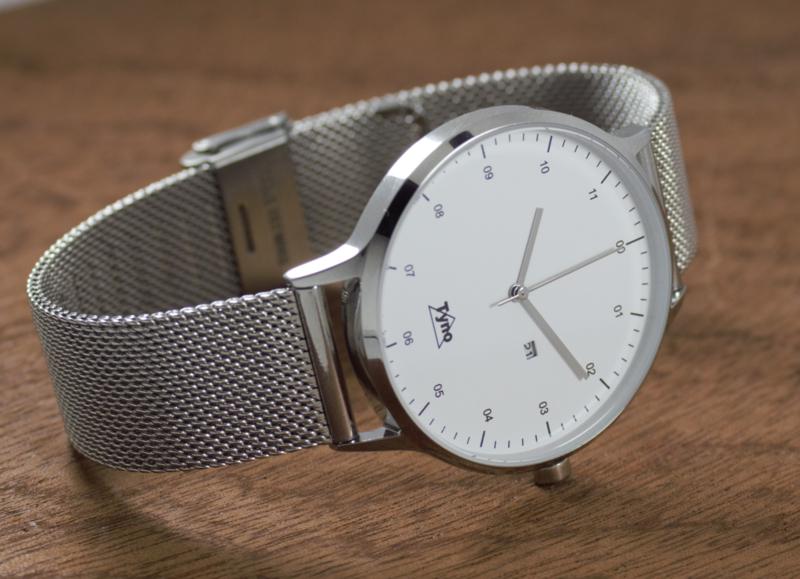 Tyno horloge zilver wit 201-001 Mesh