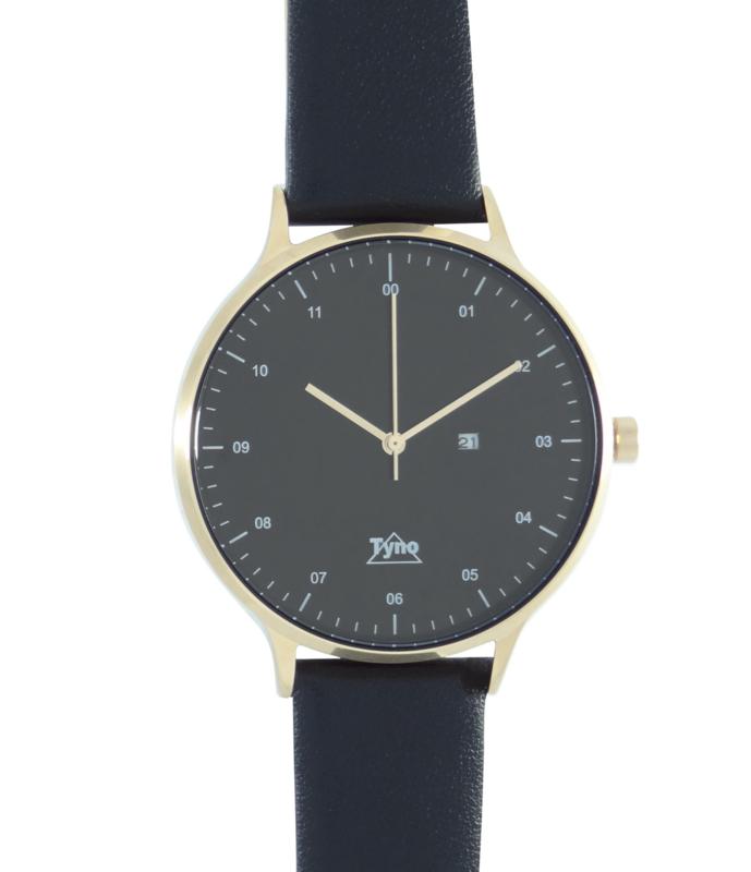 Tyno horloge Rosé goud zwart 201-005 zwart