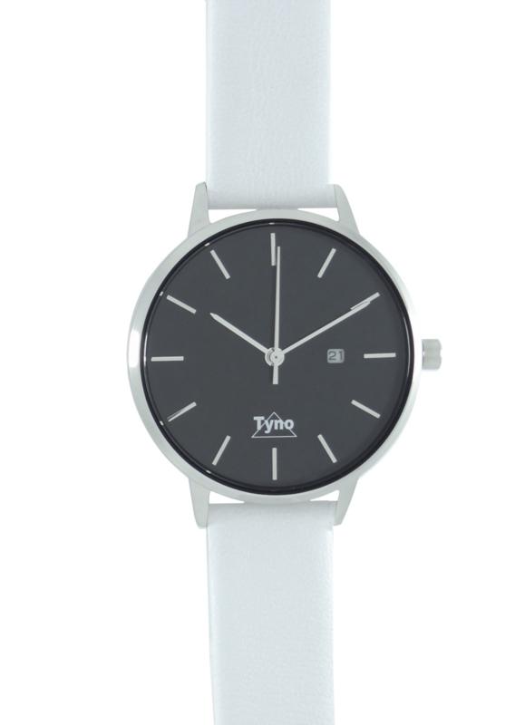 Tyno horloge zilver zwart 101-002 wit