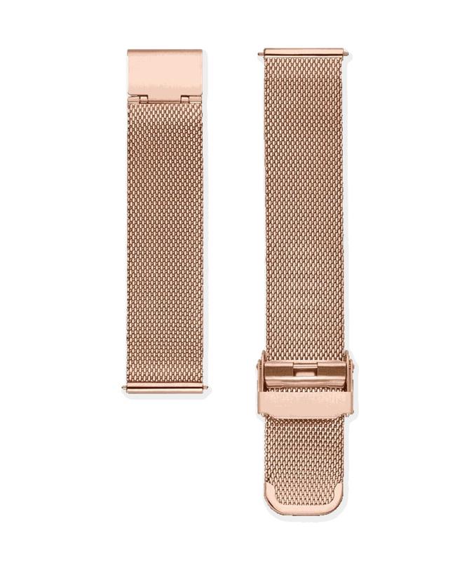 Edelstalen mesh horlogeband rosé goud 18mm
