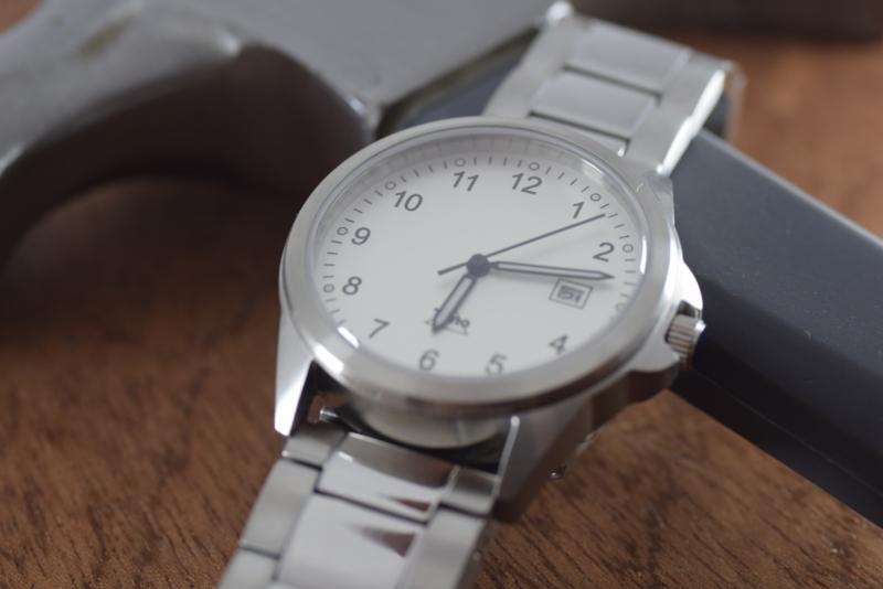 Tyno Werkhorloge zilver wit 201-010 staal