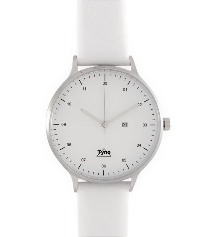 Tyno horloge zilver wit 201-001 wit