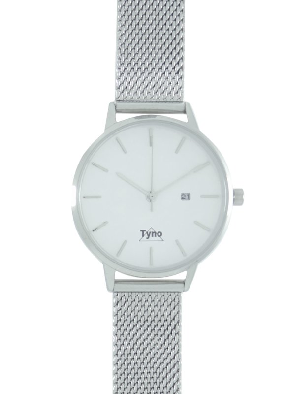 Tyno classic zilver wit 101-001 mesh