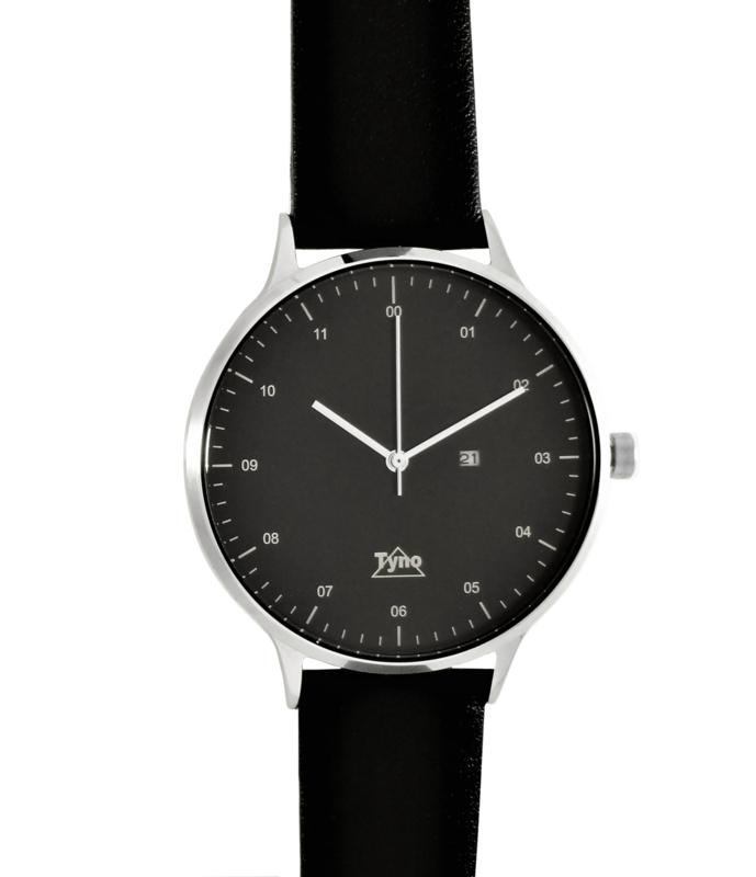 Tyno horloge zilver zwart 201-002 zwart