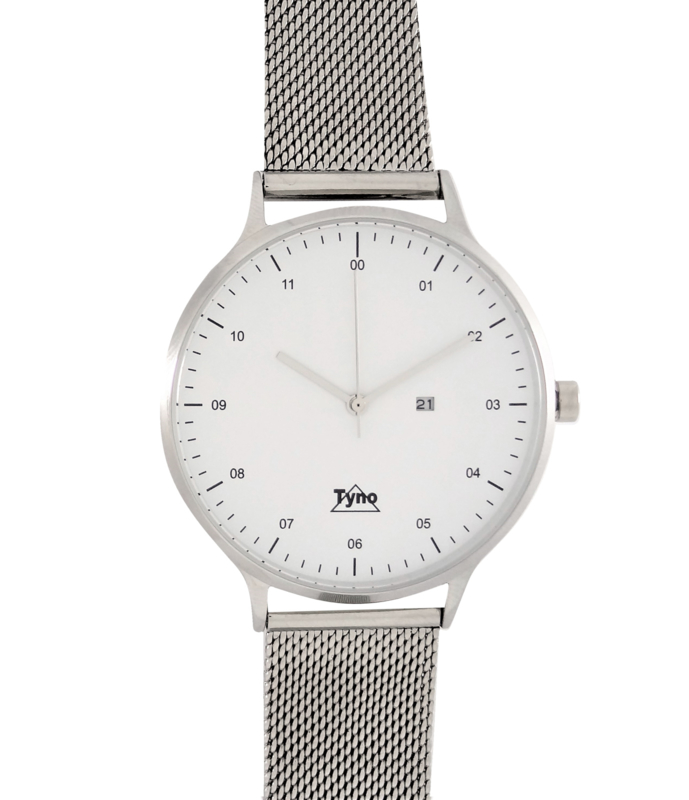 Tyno classic zilver wit 201-001 Mesh