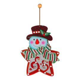 Muur/deurhanger - Sneeuwman