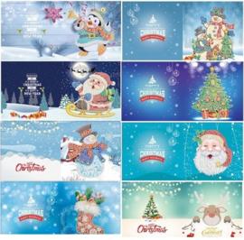 Set van 8 Kerstkaarten