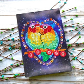 Notebook met love birds