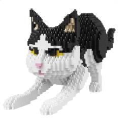 Diamond blocks - zwart witte kat