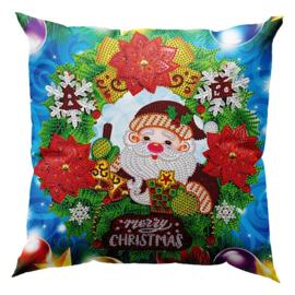 Kussenhoes - Leuke Kerstman