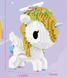 Diamond bricks - goud/witte eenhoorn