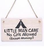 Houten bordje - Man cave