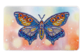 Groot mondmasker opbergdoosje - vlinder