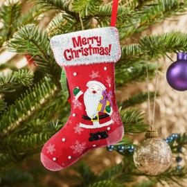 DIY Christmas decoration red sok