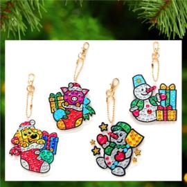 4 Shiny Kerstfiguren