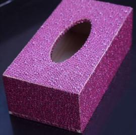 Boîte à mouchoirs - rose