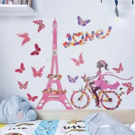 Grote muursticker Pink Love