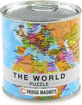 Magneet puzzel Internationale Wereldkaart