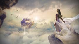 Eiland in de wolken - 50 x 70 cm