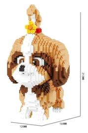 Diamond bricks - Hond met strikje