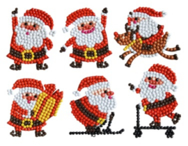 set met 6 Kerstman stickers