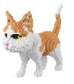 Diamond blocks - bruin/witte kat
