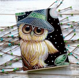 Notebook Uil met hoed