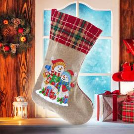 Kerstsok - sneeuwman