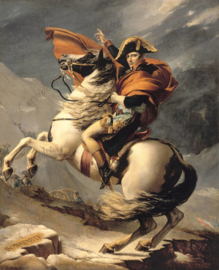 Napoleon Bonaparte franchissant le Grand-Saint-Bernard - Jacques-Louis David