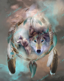 Wolf - Dreams Of Peace - Artwork by Carol Cavalaris