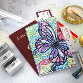 Paspoort cover met 1 vlinder