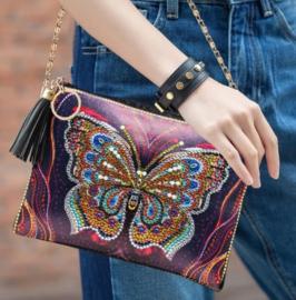 Tasje met draagketting - Vlinder