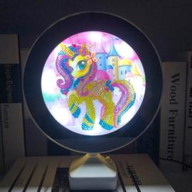 Spiegel/lamp - pony