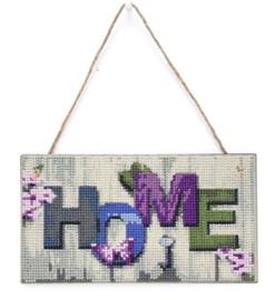Houten bordje - Home